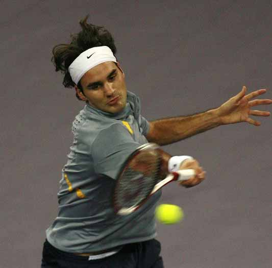 Switzerland's world number one Roger Fed